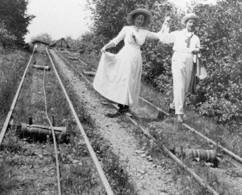 Am Wannsee, Fritz und Hedwig während der Verlobungszeit, Frühjahr 1911