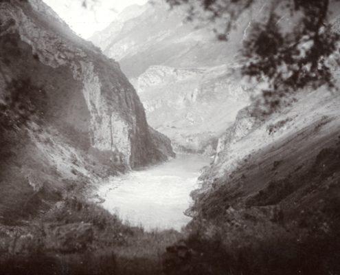 Yalong-Schlucht, 1910